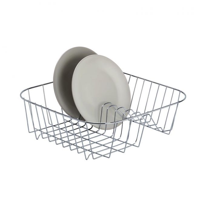 TEKNO-TEL Πιατοθήκη Γούρνας 37x31x12cm με 10 Θέσεις Πιάτων Επινικελωμένο Ατσάλι (NICKEL)
