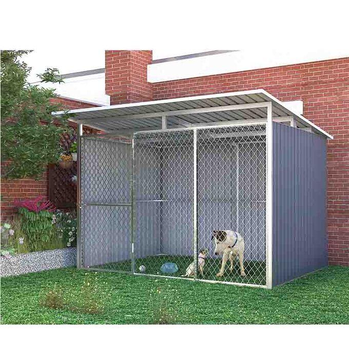 Μεταλλικό Κλουβί-Περίφραξη Σκύλων/Ζώων 260x220x186cm (9'x7.5') 5.76m² Γαλβανιζέ KENNEL B LILYSHED