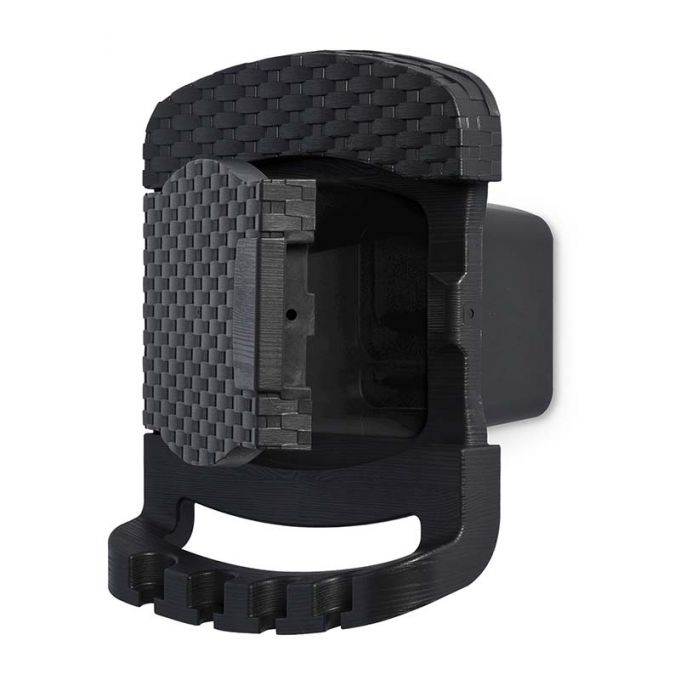 TOOMAX FASHION ITALY Βάση Λάστιχου + Λάστιχο 15 Μέτρα 29x20x37cm Πλαστική με Αποθηκευτικό Χώρο RATTAN STYLE TUBO PLUS Ανθρακί