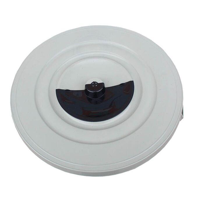 Κάδος Απορριμάτων 120lt Ø56x67cm Επαγγελματικός Πλαστικός με Καπάκι + Ημικυκλική Θυρίδα Απορριμάτων 3.75kg Λευκό Πάγου