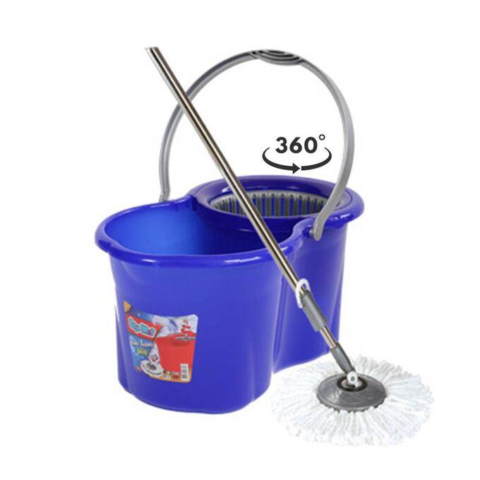 SPIN MOP CLASSIC Κουβάς Σφουγγαρίσματος 49x30x31cm 19lt 2.38kg με Περιστρεφόμενο Σύστημα Σφουγγαρίσματος 360° + Κοντάρι  ΚόκκινοΚουβάς Σφουγγαρίσματος 49x30x31cm 19lt 2.38kg με Περιστρεφόμενο Σύστημα Σφουγγαρίσματος 360° + Κοντάρι  Μπλε
