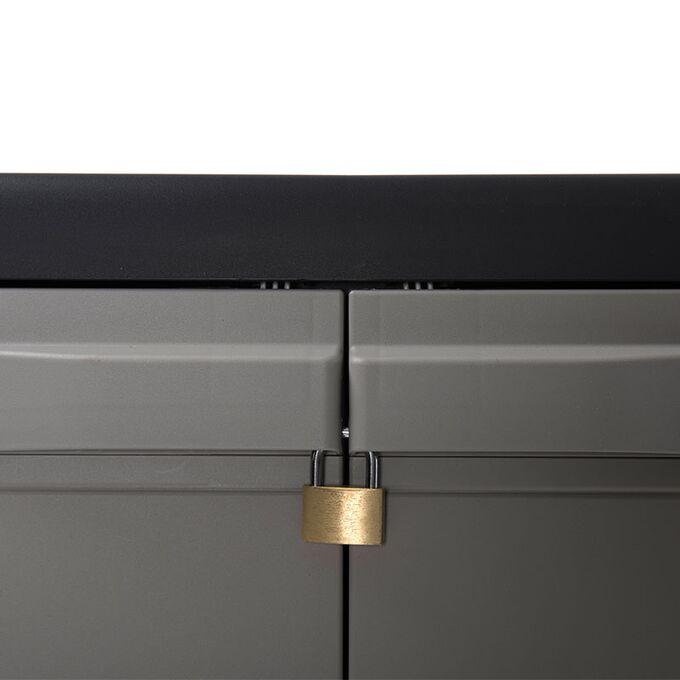 TOOMAX FASHION ITALY XL Πλαστική Ντουλάπα 78x46x94cm 9,2kg με 2 Ρυθμιζόμενα Ράφια-3 Χώροι MAX Αντοχή 80kg ELEGANCE XL BLACK-WARM GREY TUV/GS
