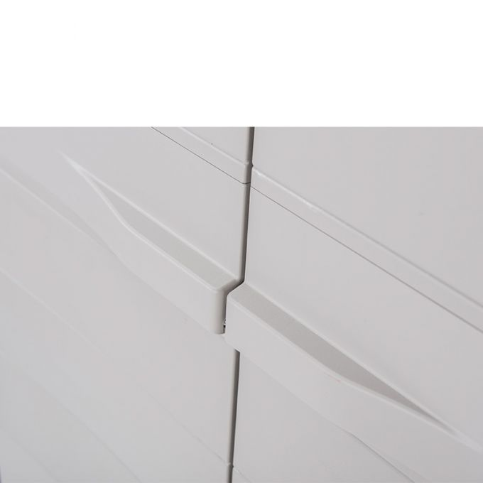 TOOMAX FASHION ITALY XL Πλαστική Ντουλάπα 78x46x175cm 14.7kg με Χώρισμα-5 Χώροι MAX Αντοχή 80kg ELEGANCE XL BLACK-GREY TUV/GS