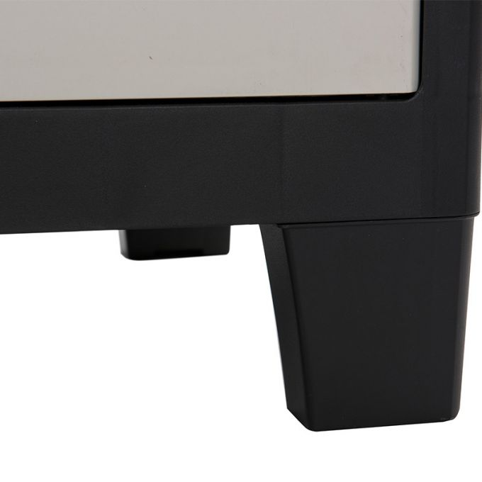 TOOMAX FASHION ITALY XL Πλαστική Ντουλάπα 78x46x101cm 9.7kg με 2 Ρυθμιζόμενα Ράφια-3 Χώροι MAX Αντοχή 80kg FACTORY XL MILK WHITE-BLACK TUV/GS
