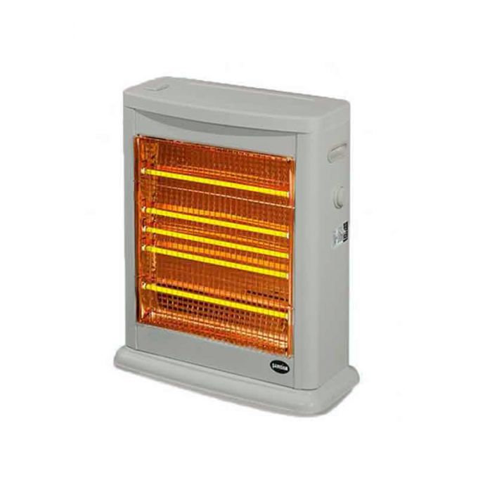 Σόμπα Χαλαζία 2750W 56x26x66cm με Υγραντήρα Θερμοστάτη και Ρυθμιζόμενη Θερμοκρασία 220-230V 6.5kg Γκρι SAMDAN3009