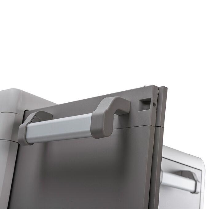TOOMAX FASHION ITALY XL Πλαστική Ντουλάπα 78x49x101cm 10.4kg με 2 Ρυθμιζόμενα Ράφια-3 Χώροι και 6 Ρυθμιζόμενα Πόδια MAX Αντοχή 80kg URBAN XL GREY/WARM GREY TUV/GS