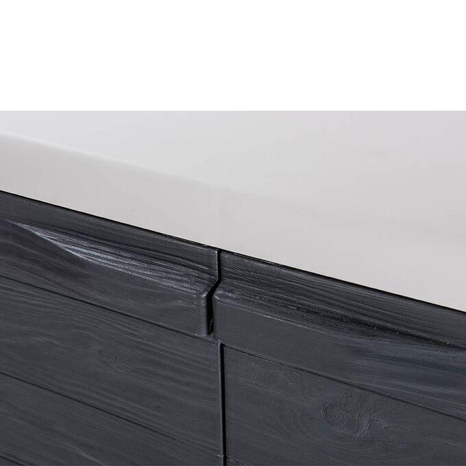TOOMAX FASHION ITALY XL Πλαστική Ντουλάπα 78x46x101cm με 2 Ρυθμιζόμενα Ράφια-3 Χώροι MAX Αντοχή 80kg WOODY'S XL ANTHRACITE/GREY TUV/GS