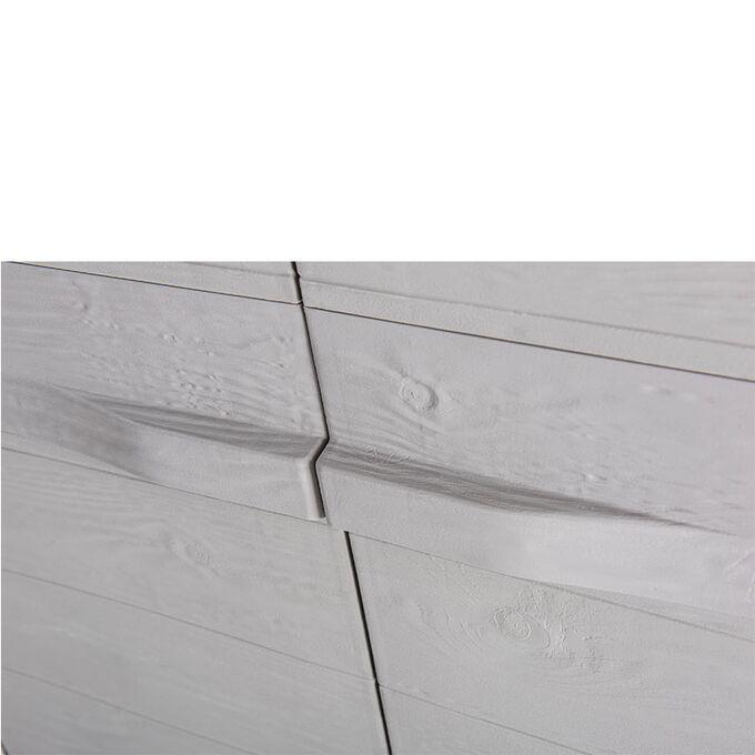 TOOMAX FASHION ITALY XL Πλαστική Ντουλάπα 78x46x182cm 16.5kg με 4 Ρυθμιζόμενα Ράφια-5 Χώρους MAX Αντοχή 140kg WOODY'S  XL GREY/WARM GREY Πιστοποιήσεις TUV/GS