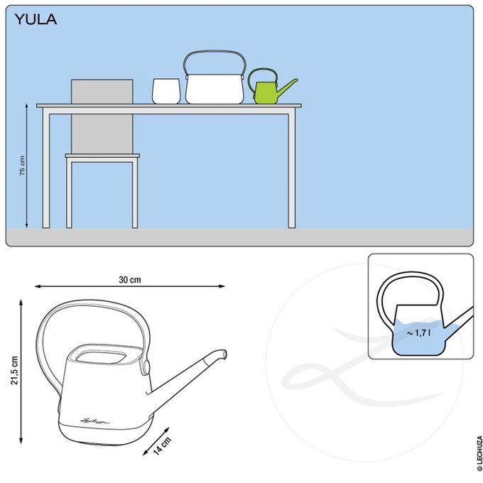 LECHUZA YULA Ποτιστήρι 30x14x21.5cm 1.7lt Πλαστικό Λευκό-Γκρι Γερμανίας