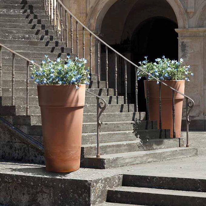 BAMA ITALY Γλάστρα Βαρέως Τύπου Ø60x105cm 27+49lt Πλαστική Τερακότα VASO CONO SENSATION