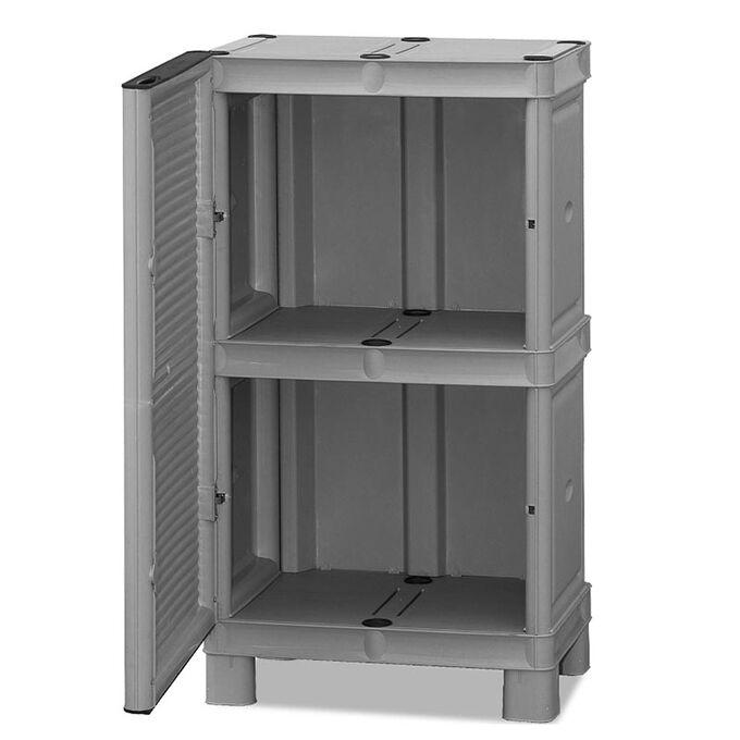 Πλαστική Ντουλάπα 50x39x92cm 9kg με Μεταλλικούς STRONG Μεντεσέδες Μονόφυλλη MASSIF 2 Αποθηκευτικοί Χώροι ARTPLAST CONCERT LINE ITALY