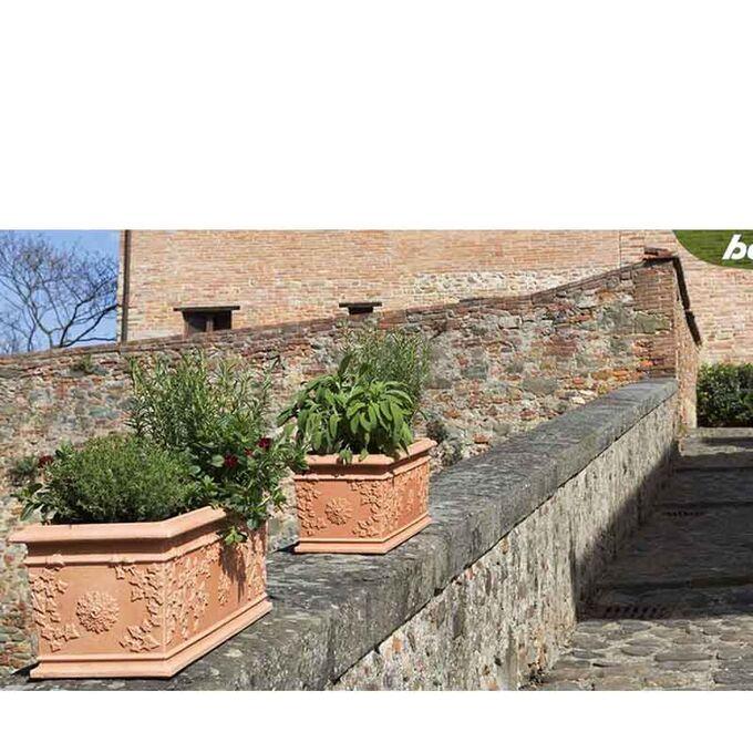 BAMA ITALY Ζαρντινιέρα 60x26x24cm 30lt Πλαστική ΒΑΡΕΩΣ ΤΥΠΟΥ Κεραμιδί FIORIERA VITE
