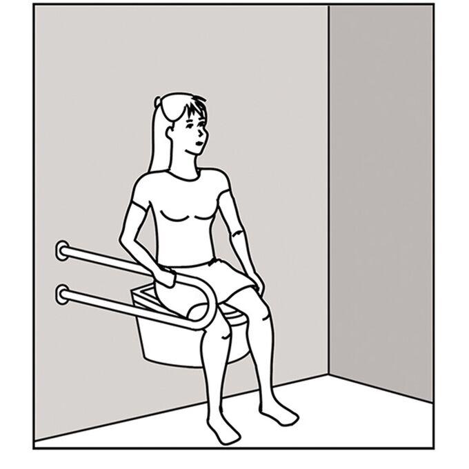 Χειρολαβή Μπάνιου 52.5x21x8cm Βιδωτή σε Τοίχο Βάρος 1.68kg Αλουμινίου Λευκή