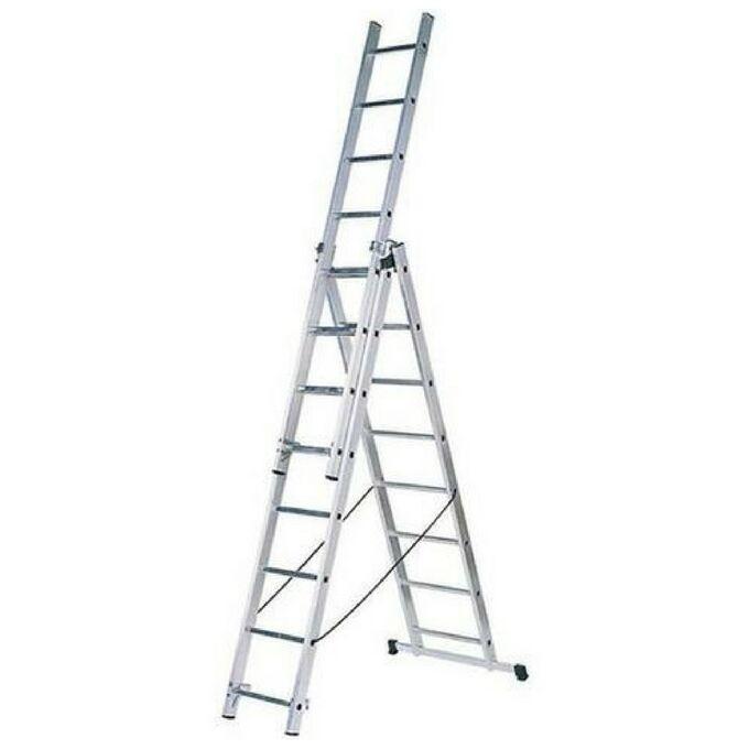 Σκάλα Πτυσσόμενη 100% Αλουμινίου 3x8 με 24 Σκαλιά