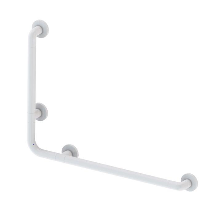 Χειρολαβή Μπάνιου 78x8x55.5cm Αλουμίνιο-Πλαστικό Μέγιστη Αντοχή 120kg Βάρος 1.10kg Λευκή