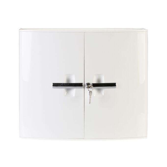 Φαρμακείο/Ερμάριο-Ντουλάπι Μπάνιου με Κλειδαριά 38.5x17x33cm 2 Πόρτες-5 Αποθηκευτικοί Χώροι Βάρος 1.72kg Λευκό
