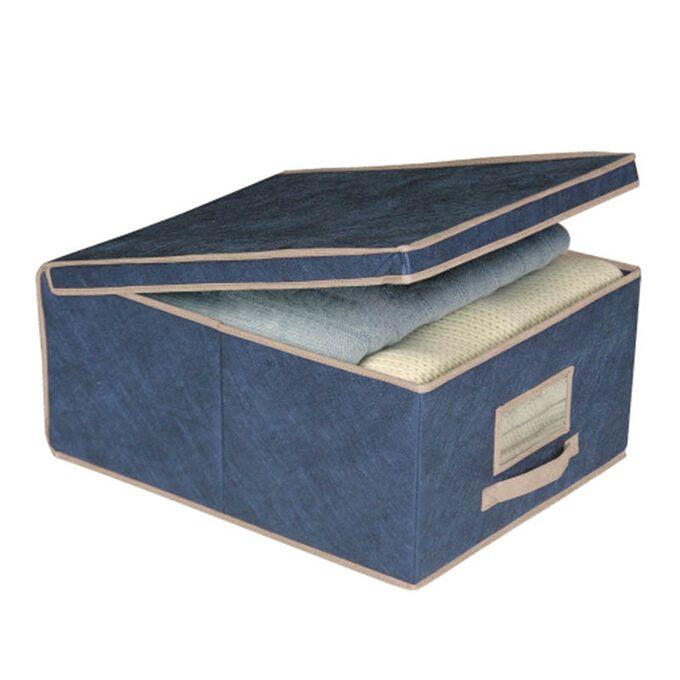 ORDINETT ITALY Κουτί Αποθήκευσης 48x36x19cm ΤΝΤ 33lt 0.85kg BOX MEDIUM BLUE