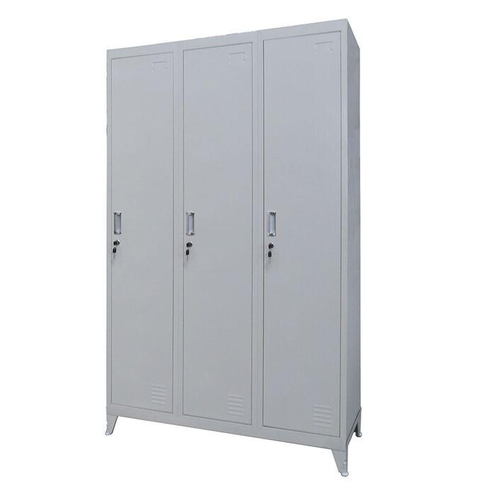Μεταλλική Ντουλάπα - Φοριαμός (Locker) 115x45x191cm 3φυλλη με Ρυθμιζόμενα Πόδια 9 Αποθηκευτικών Χώρων 53.5kg STEELEN