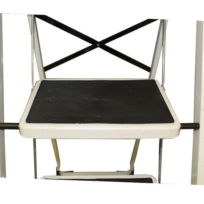 Σκαλοσκαμπό Μεταλλικό 44.5x67x101cm με 3 Σκαλιά MAX Αντοχή 150kg Βάρος 5.8kg Λευκό LF203B