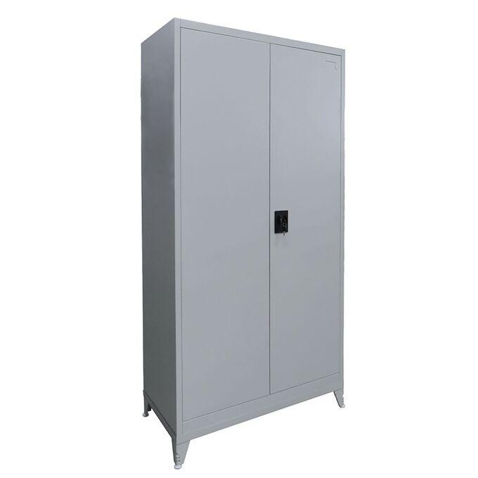 Μεταλλική Ντουλάπα 90x45x191cm Γαλβανιζέ με Χώρισμα και Εσωτερικό Ντουλάπι (Locker) και Ρυθμιζόμενα Πόδια 42kg 5 Αποθηκευτικοί Χώροι STEELEN