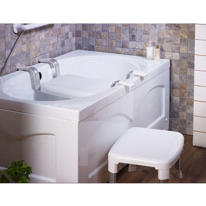 Κάθισμα-Σκαμπό Μπανιέρας 75x34x16cm MAX Αντοχή 150kg Αλουμίνιο-Πλαστικό Λευκό