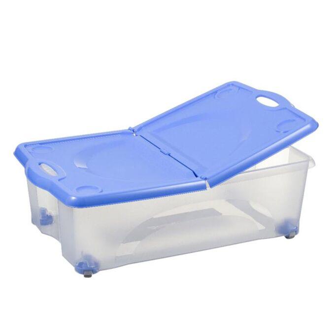 BAMA ITALY Κουτί Αποθήκευσης 59x39x18cm 27lt με Περιστρεφόμενες Ρόδες 360ᵒ Πλαστικό Διάφανο-ΜπλεBAMA ITALY Κουτί Αποθήκευσης 59x39x18cm 27lt με Περιστρεφόμενες Ρόδες 360ᵒ Πλαστικό Διάφανο-Μπλε CONTENITORE ROTOBOX