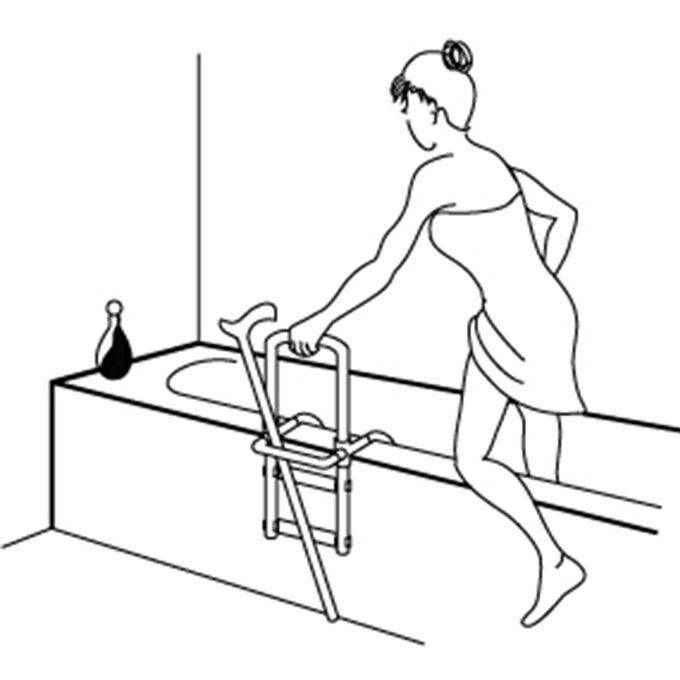 Χειρολαβή Μπανιέρας 22.5x7.5x51.4cm Αντοχή Βάρους 120kg Βάρος 1.86kg Λευκό