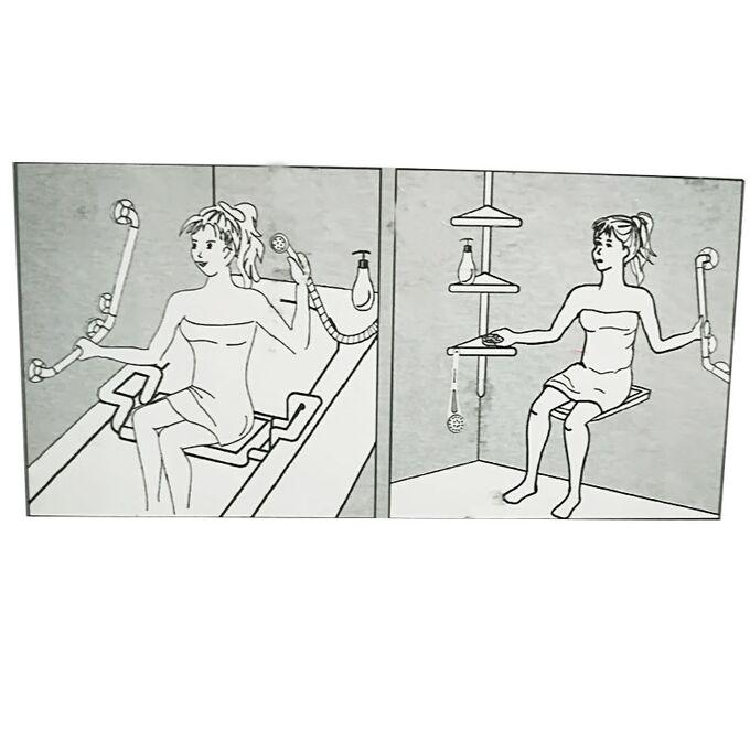 Χειρολαβή Μπάνιου 113x8x55cm Αλουμίνιο-Πλαστικό Μέγιστη Αντοχή 120kg Βάρος 1.1kg Λευκή