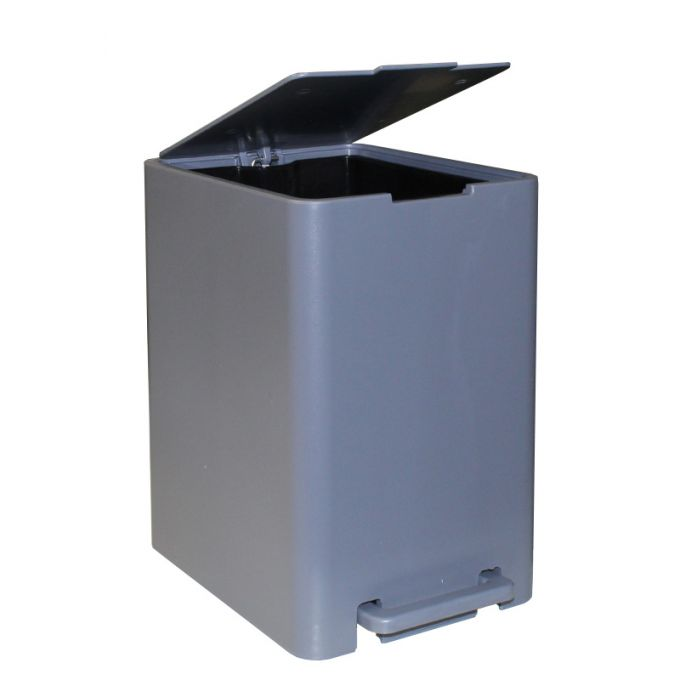 Κάδος Μπάνιου με Πεντάλ 13.5lt 18.5x25x29cm με Εσωτερικό Κάδο 7lt 0.82kg Πλαστικό SOFT CLOSE Γκρι Τιτανίου VIOMES Ελλάδας