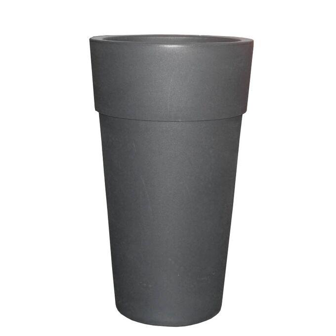 BAMA ITALY Γλάστρα Βαρέως Τύπου Ø50x87.5cm 22.5+41lt Πλαστική Ανθρακί VASO CONO SENSATION