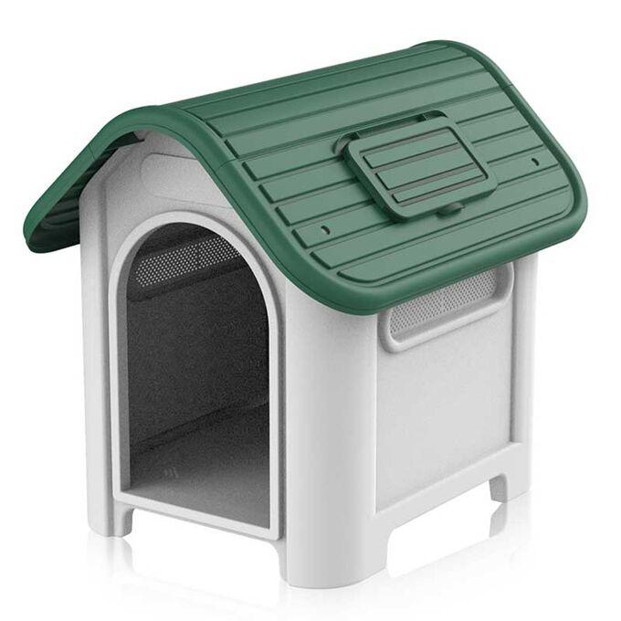 Σπίτι Σκύλου XXL 97.3x117x113cm 21.5kg Λευκό Πάγου-Πράσινο VESTA
