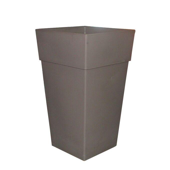 BAMA ITALY Γλάστρα Βαρέως Τύπου 50x50x87.5 78lt Γίγας 7.7kg Πλαστική Γκρι-Καφέ PIRAMIDE