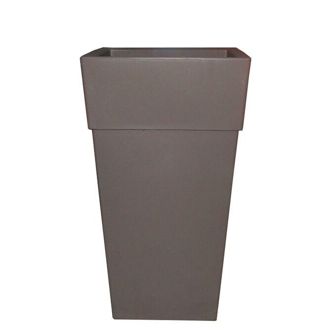 BAMA ITALY Γλάστρα Βαρέως Τύπου 40x40x70cm 62.5lt Γίγας 4.5kg Πλαστική Γκρι-Καφέ PIRAMIDE