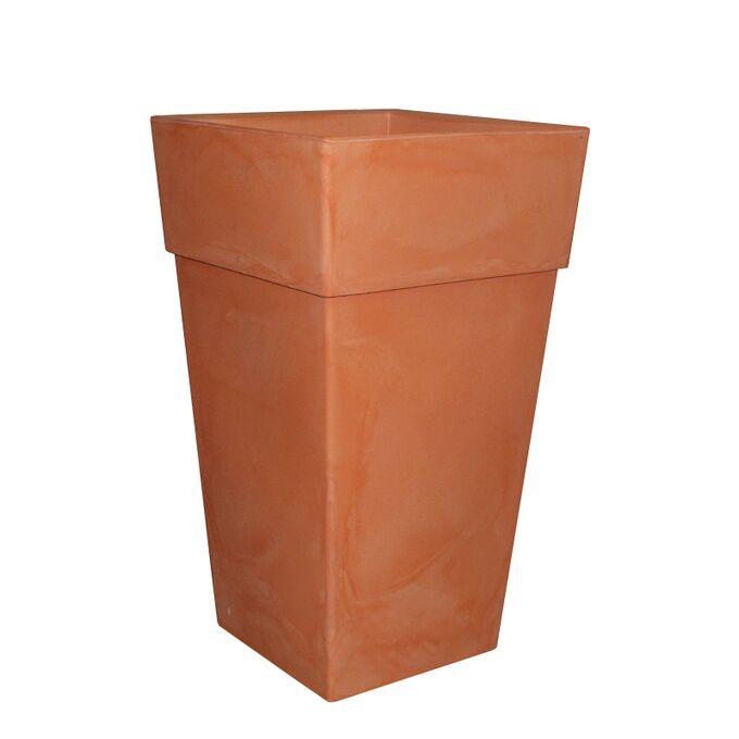BAMA ITALY Γλάστρα Βαρέως Τύπου 40x40x70cm 62.5lt Γίγας 4.5kg Πλαστική Κεραμιδί PIRAMIDE