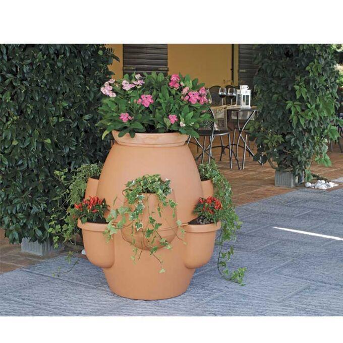 BAMA ITALY Γλάστρα Σύνθεσης XL Ø80x80cm 200lt Πλαστική με Πιάτο 8.2kg Oasi Κεραμιδί