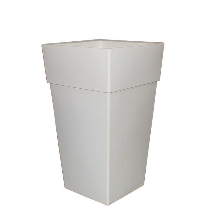 BAMA ITALY Γλάστρα Βαρέως Τύπου 40x40x70cm 62.5lt Γίγας 4.5kg Πλαστική Λευκή PIRAMIDE