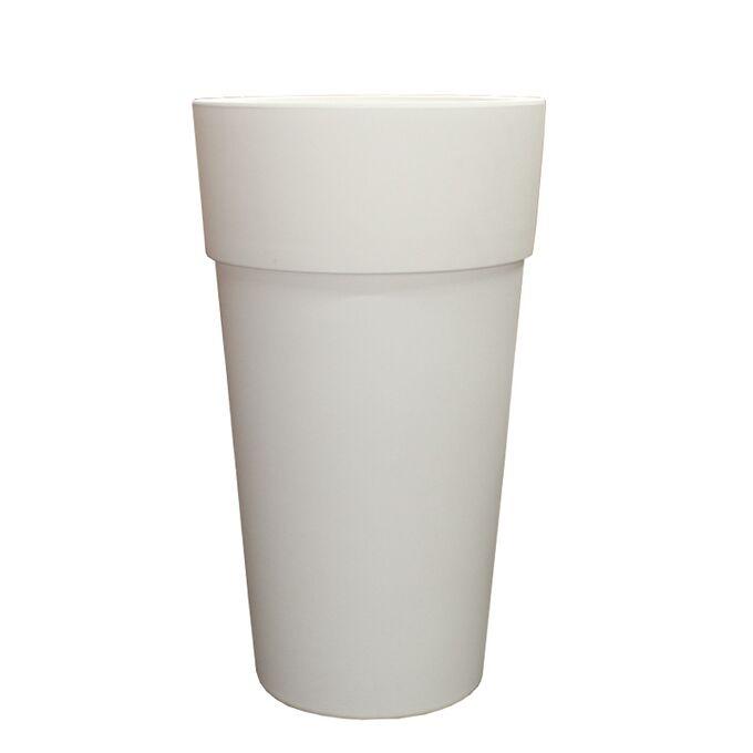 BAMA ITALY Γλάστρα Βαρέως Τύπου Ø60x105cm 27+49lt Πλαστική Λευκή VASO CONO SENSATION