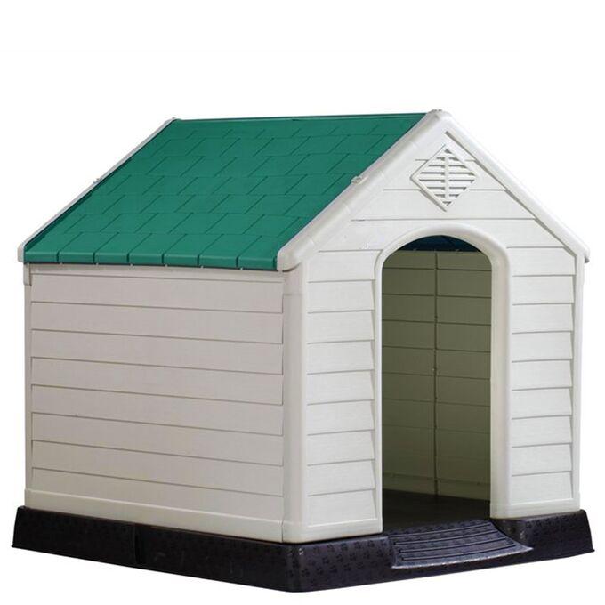 Σπίτι Σκύλου XLARGE 97x101x99cm 15.6kg Λευκό Πάγου-Πράσινο VESTA