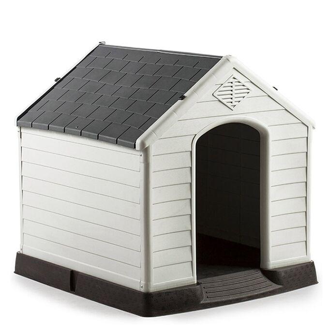 Σπίτι Σκύλου LARGE 78.5x87.7x81.5cm 11.2kg Λευκό Πάγου-Γκρί VESTA