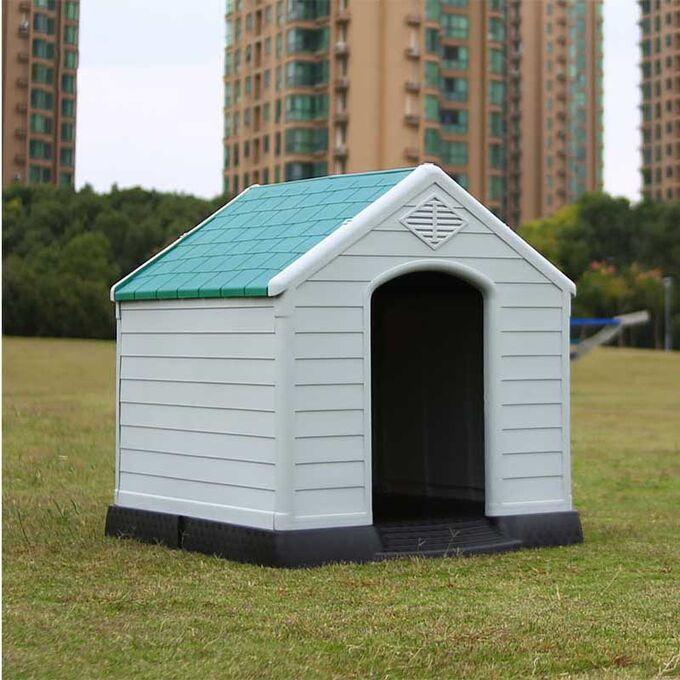 Σπίτι Σκύλου LARGE 78.5x87.7x81.5cm 11.2kg Λευκό Πάγου-Πράσινο VESTA