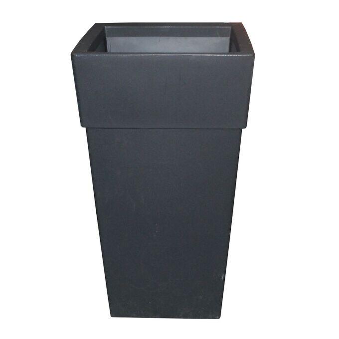BAMA ITALY Γλάστρα Βαρέως Τύπου 50x50x87.5cm 78lt Γίγας 7.7kg Πλαστική Ανθρακί PIRAMIDE