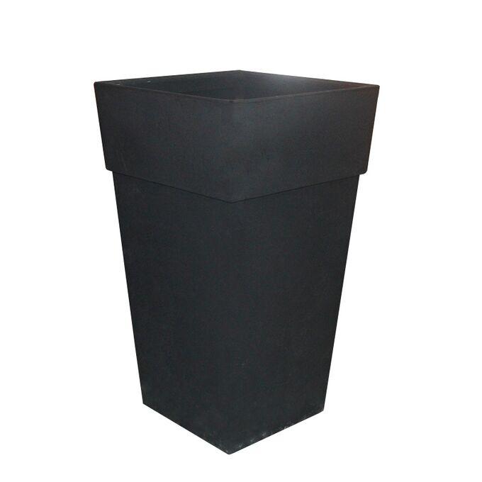 BAMA ITALY Γλάστρα Βαρέως Τύπου 40x40x70cm 62.5lt Γίγας 4.5kg Πλαστική Ανθρακί PIRAMIDE