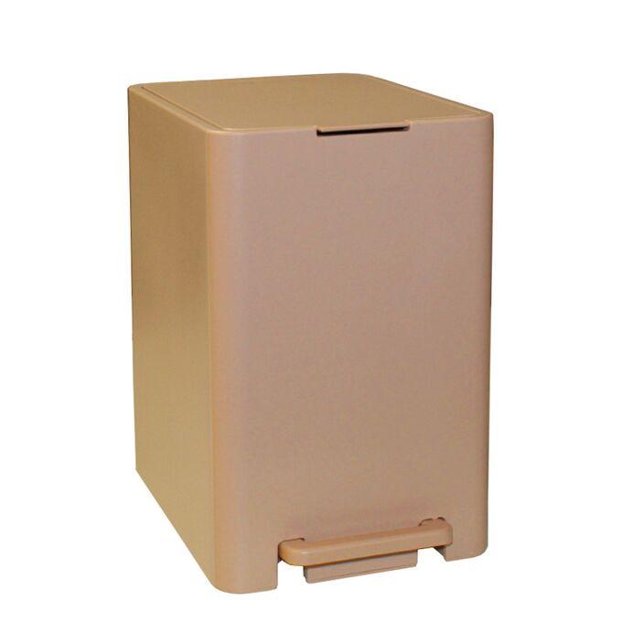 Κάδος Μπάνιου με Πεντάλ 13.5lt 18.5x25x29cm με Εσωτερικό Κάδο 7lt 0.82kg Πλαστικό SOFT CLOSE Μπεζ Άμμου Ελλάδας