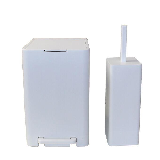 Κάδος Μπάνιου με Πεντάλ 13.5lt 18.5x25x29cm με Εσωτερικό Κάδο 7lt 0.82kg Πλαστικό SOFT CLOSE Λευκό Ελλάδας