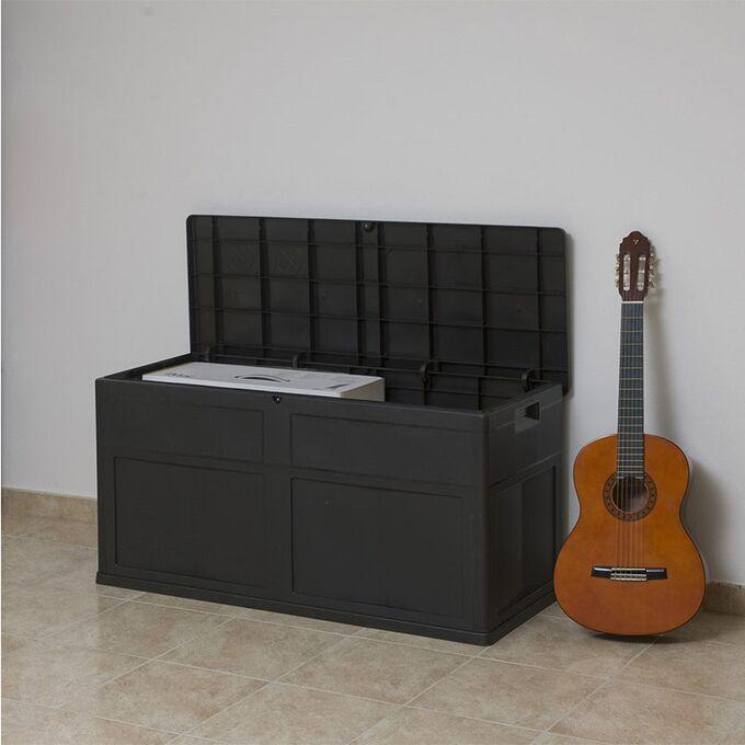 TOOMAX ITALY Πλαστικό Μπαούλο 119x46x60cm 320lt 6.8kg MULTIBOX TREND BLACK TUV/GS