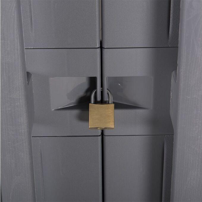 TOOMAX FASHION ITALY Πλαστική Ντουλάπα 89x54x190cm 28kg με 4 Ρυθμιζόμενα Ράφια- 5 Χώρους MAX Αντοχή 220kg ANNIVERSARY MEGA XXL LIGHT GREY/BASALT GREY TUV/GS