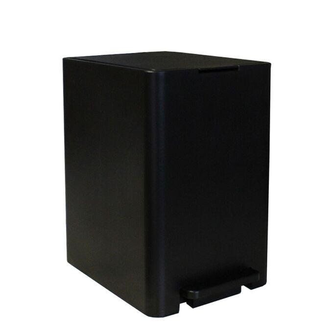Κάδος Μπάνιου με Πεντάλ 18.5x25x29cm 7lt 0.82kg Πλαστικό SOFT CLOSE Μαύρο ΕλλάδαςΚάδος Μπάνιου με Πεντάλ 13.5lt 18.5x25x29cm με Εσωτερικό Κάδο 7lt 0.82kg Πλαστικό SOFT CLOSE Μαύρο Ελλάδας