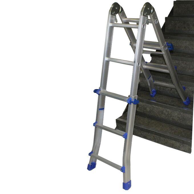Σκάλα Αλουμινίου Επαγγελματική 4x3 Σκαλιά Μέγιστο Ύψος 287 εκατοστά Αντοχή 150kg Βάρος 9.4kg Πιστοποίηση EN131