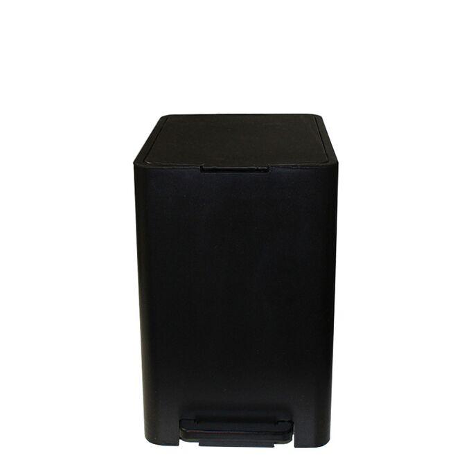Κάδος Μπάνιου με Πεντάλ 13.5lt 18.5x25x29cm με Εσωτερικό Κάδο 7lt 0.82kg Πλαστικό SOFT CLOSE Μαύρο Ελλάδας