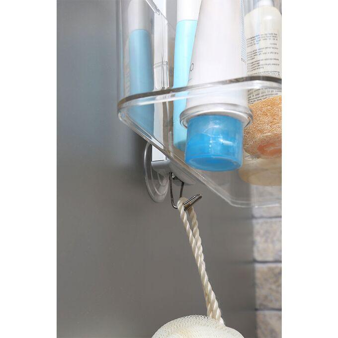 Ραφιέρα Μπάνιου 2όροφη 29x11x69cm 0.84kg Αλουμίνιο-Πλαστικό